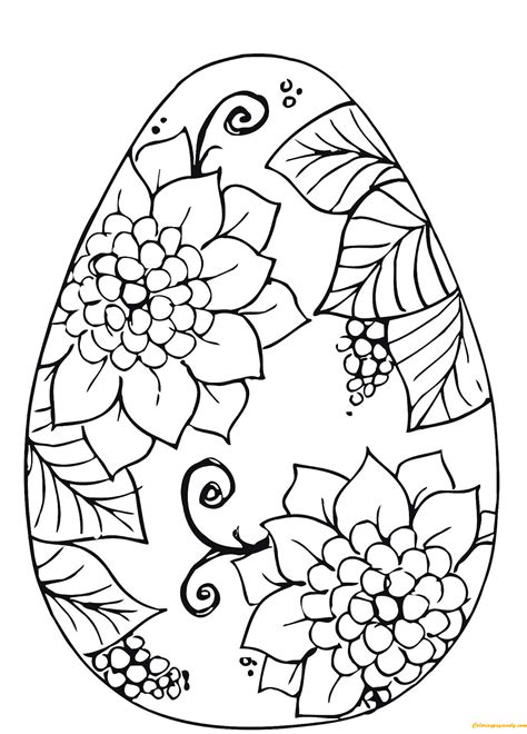 Coloring Easter Eggs by Easter Egg Flower Patterns Coloring Page Free Coloring