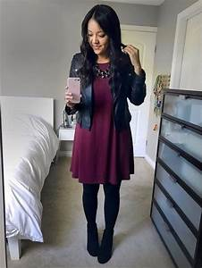 The 25+ best Burgundy dress outfit ideas on Pinterest | Boots makeup wedges Maroon dress outfit ...