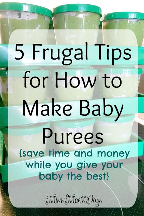 5 Frugal Tips For How To Make Baby Purees  Miss Mae's Days