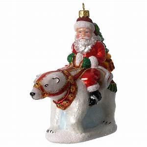 Pere Noel Decoration : p re no l avec ours polaire d coration verre souffl vente en ligne sur holyart ~ Melissatoandfro.com Idées de Décoration
