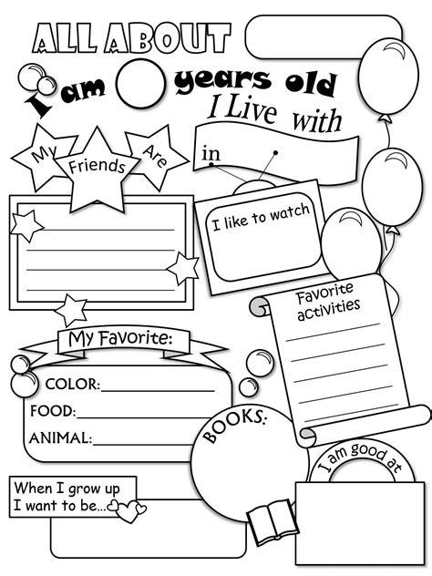 All About Me Worksheet Freebie  Cute!  Language Arts  Pinterest  All About Me Worksheet