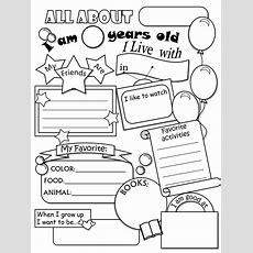 All About Me Worksheet Freebie  Cute!  Language Arts  All About Me Worksheet, About Me