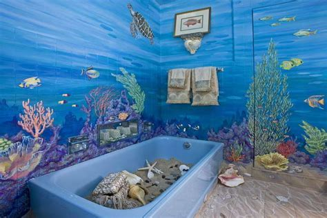 Ocean themed bedroom ideas, bathroom with sea theme ocean
