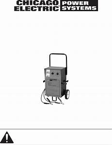 Download Chicago Electric Battery Charger 46944 Manual And