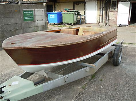 Classic Wooden Speed Boats For Sale by Broom Javelin Classic 1960 Wooden Speed Boat 55hp