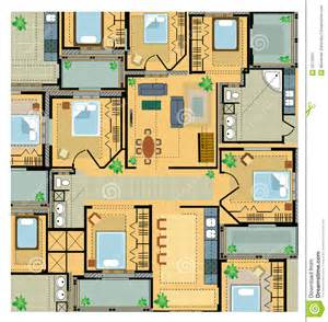floor plans of a house color plan house royalty free stock photography image 22179337