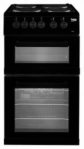 Beko Kdvc563ak Black 50cm Freestanding Double Oven Ceramic