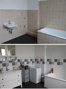 Alte Fliesen Streichen : mein badezimmer vorher nachher mit fliessenaufkleber ~ Lizthompson.info Haus und Dekorationen