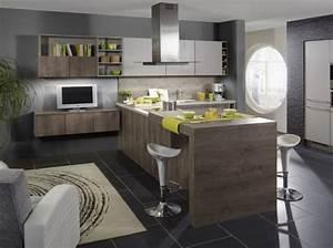 Ilots central idees pour la maison pinterest cuisine for Deco cuisine avec meuble salle salon