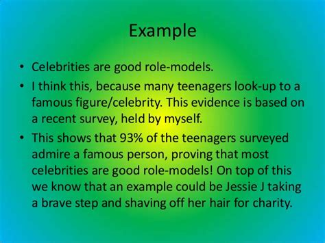 celebrities role models essay