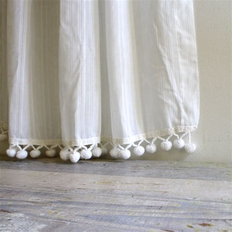 vintage pom pom curtain by ethanollie on etsy