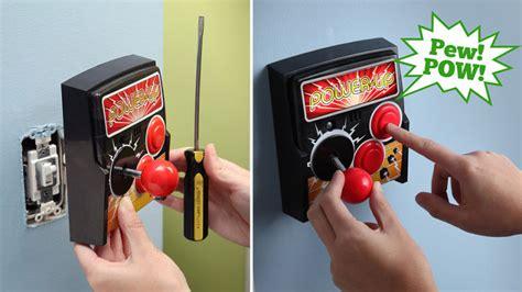 Retro Arcade Light Switch Doesn Require Single Quarter