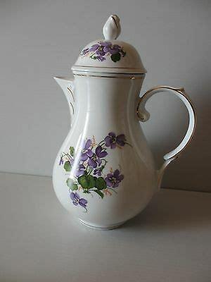 kahla porzellan gdr wert veb kahla gdr triptis porzellan violett veilchen kanne kuchenteller unterer eur 58 00