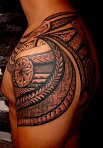 27 Beautiful Tribal Shoulder Tattoos
