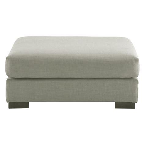 pouf canapé pouf de canapé modulable en tissu monet gris clair terence