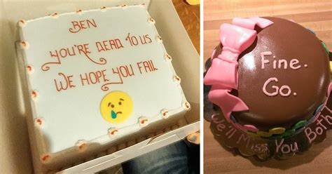 day office farewell cakes send employees
