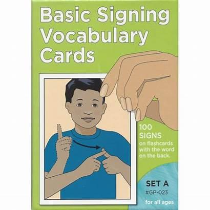 Language Sign Cards Flash Basic Vocabulary Signing