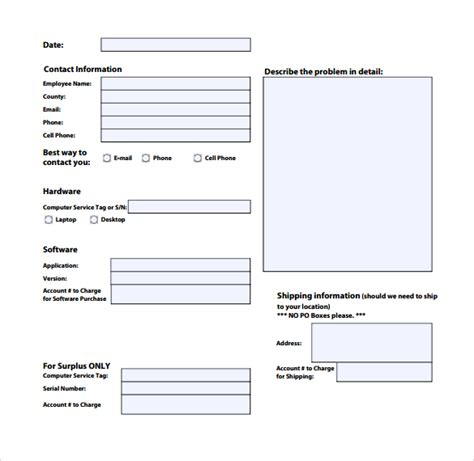 service request form template charlotte clergy coalition