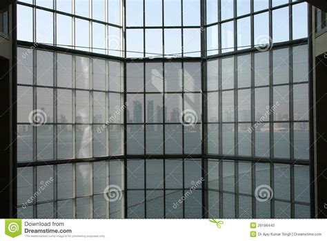 Glass Curtain Wall And Qatar Skyline From Inside Qatar Museum Editorial Image Adhesive Curtain Rod Holder How Do You Hang A Valance Over Curtains Kitchen Black And White Check Modern For Living Room 2016 Blackout With Pom Poms Textile Traders Making Matching Orange Walls Iron Water Filter Maintenance