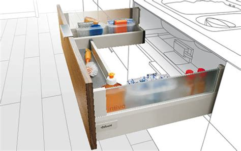 kitchen sink pull out drawer clever storage solutions with blum drawers 8528