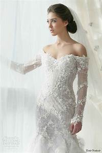 chic ziad nakad mermaid wedding dress with off the With off the shoulder wedding dress with sleeves