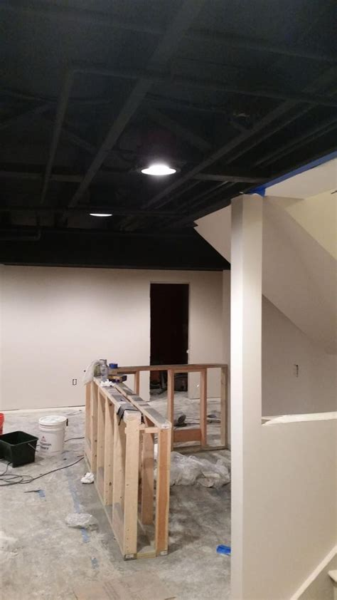 Exposed Basement Ceiling Lighting Ideas 36 practical and stylish basement ceiling d 233 cor ideas