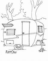 Coloring Printable Travel Camper Trailer Colouring Adult Shasta Trailers Camping Instant Wings 1960 Sheets Rv Caravan Line Embroidery Campers Template sketch template