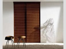 Wood Sliding Closet Doors with Brown Oak Wooden Double