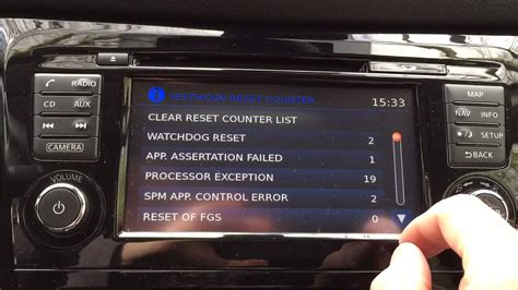nissan connect 3 qashqai j11 how to enter test mode on nissan connect iii
