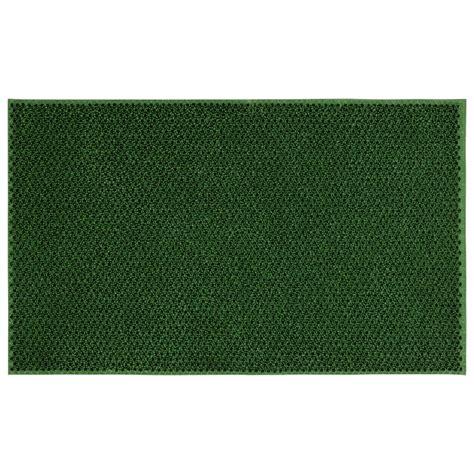 Green Doormat by Ottomanson Rubber Doormat Collection Green Elanji 18 In X