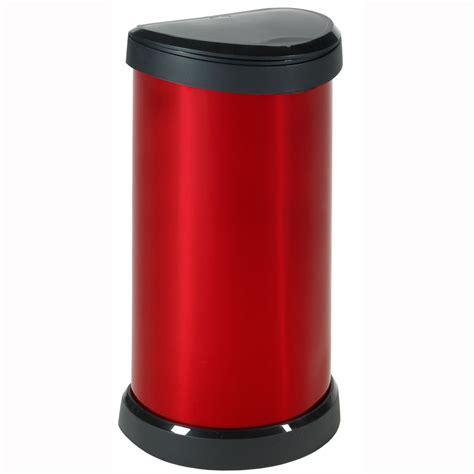 poubelle cuisine curver 176459 poubelle 40 l aspect métal quot touch quot 176459
