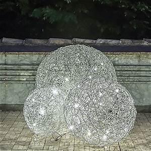 Boule Lumineuse Exterieur : boule lumineuse fil de fer jardinchic ~ Teatrodelosmanantiales.com Idées de Décoration
