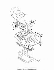 Troy Bilt 13wx79kt011 Horse Xp  2011  Parts Diagram For Seat  U0026 Fender