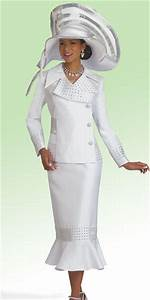 Donna Vinci 11485 Womens Pure White Church Suit French Novelty