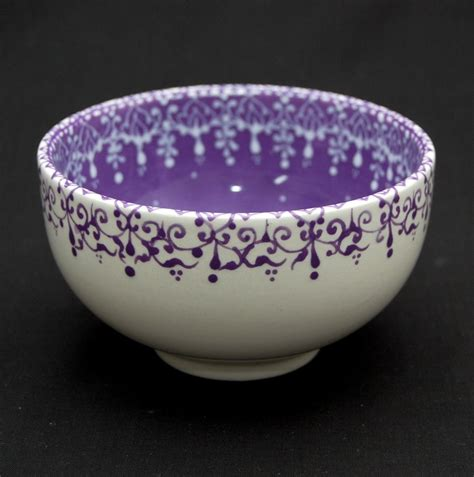 bowl ideas lovely work using henna designs by uk artist humna mustafa lilac hand painted soup cereal bowl