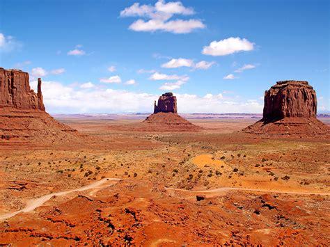 deserts red sand rock desert road monument valley navajo