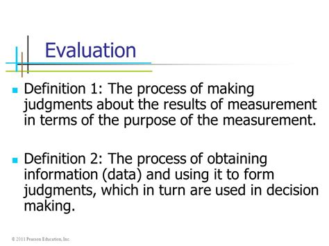 Introduction To Measurement And Evaluation