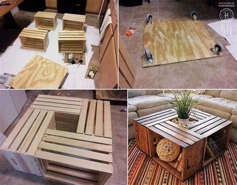 ideas  decorar tu casa  cajas de madera mesas de