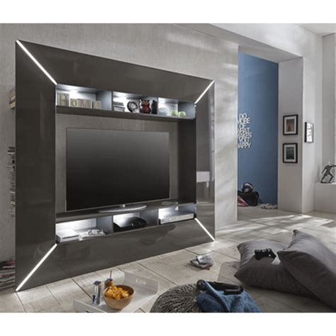 Best Bedroom Tv Uk by Chicago Tv Entertainment Unit In Grey High Gloss With Led