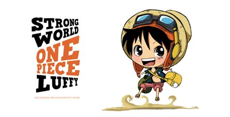 Strong World Chibi Luffy By Chabeescalant On Deviantart