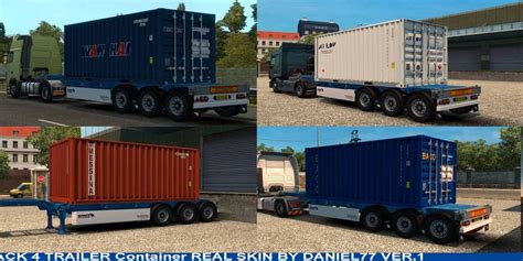 trailer container  ft skins real  mod euro truck