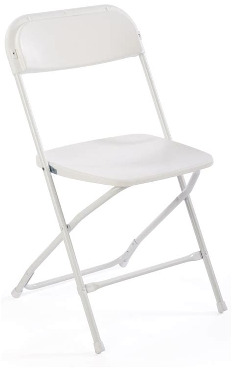 white plastic folding chair lightweight stacking