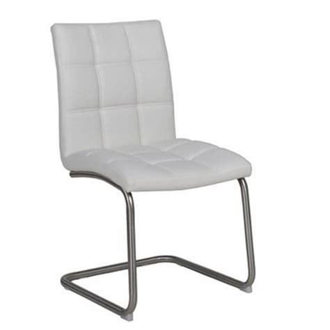 chaise simili cuir blanc chaise cantilever en simili cuir blanc et piètement en