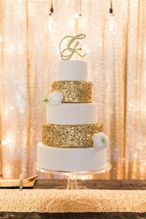 fab glittery  sparkling wedding cake ideas