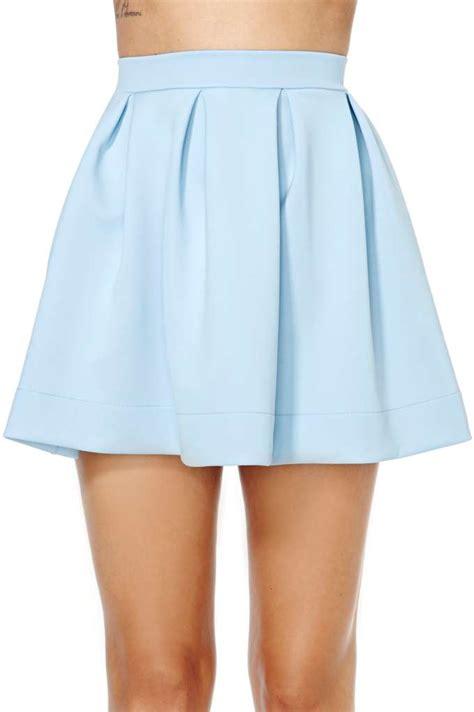 Long Sofas by Scuba Skater Skirt Blue At Nasty Gal