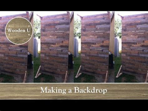 making  backdrop wooden  youtube
