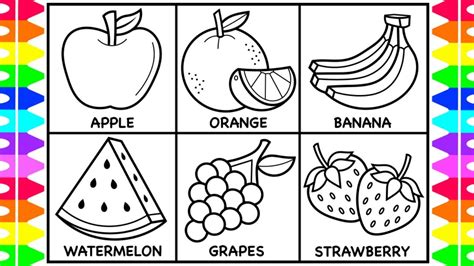 fruits coloring page federalgrantsource