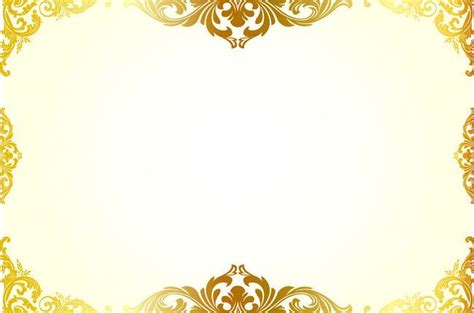 simple hand painted gold pattern border background