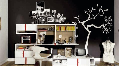 chambre ado noir et blanc la déco chambre ado fille esthétique et amusante