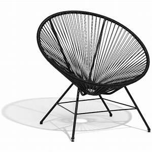 Fauteuil Jardin Gifi : fauteuil design urban noir transat hamac mobilier de jardin jardin plein air gifi ~ Teatrodelosmanantiales.com Idées de Décoration